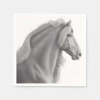 Proud Friesian Horse Paper Napkins