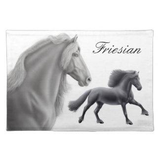 Proud Friesian Horse Placemat