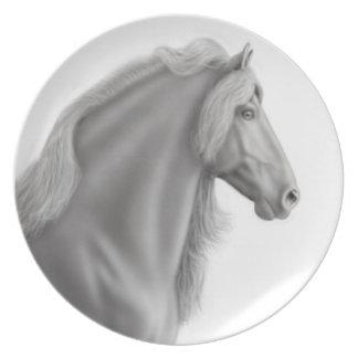 Proud Friesian Horse Plate