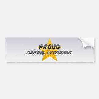 Proud Funeral Attendant Bumper Sticker