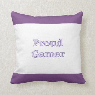 Proud Gamer Throw Pillow