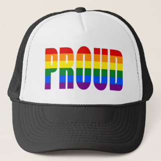 PROUD (Gay Pride Rainbow) Trucker Hat