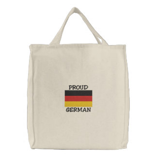Proud German Embroidered Bag Embroidered Tote Bags