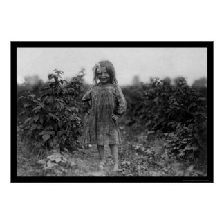 Proud Girl Berry Picker 1910 Poster