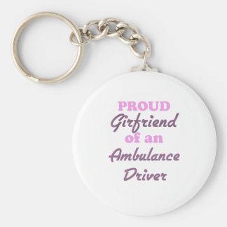 Proud Girlfriend of an Ambulance Driver Keychain