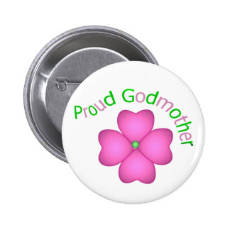 Proud Godmother 2 Inch Round Button