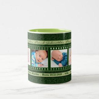 Proud Godmother 4 Photo Mug Deep Vintage Green