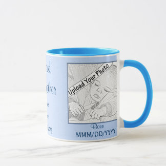 Proud Godmother Blue New Baby Personalized Mug