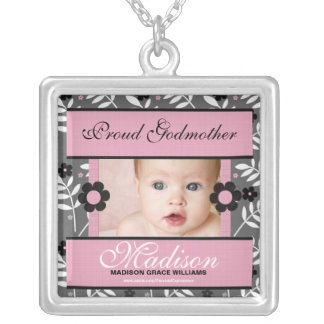 Proud Godmother Personalized Photo Necklace