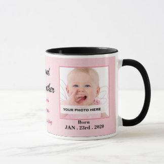 Proud Godmother Pink and Black Baby Photo Mug