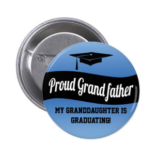 Proud Grandfather - Graduation Button
