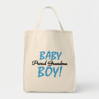 Proud Grandma Baby Boy T shirts and Gifts Tote Bag