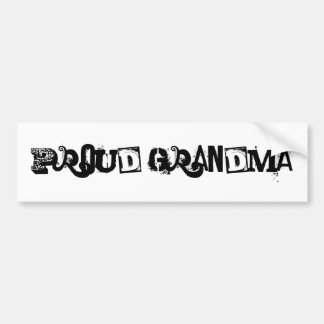 proud grandma bumper sticker