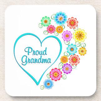 Proud Grandma Heart Coaster