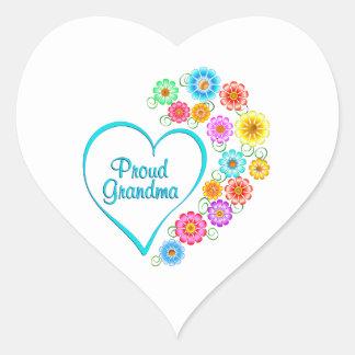 Proud Grandma Heart Heart Sticker