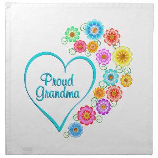 Proud Grandma Heart Napkin