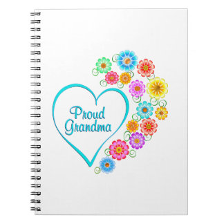 Proud Grandma Heart Notebook