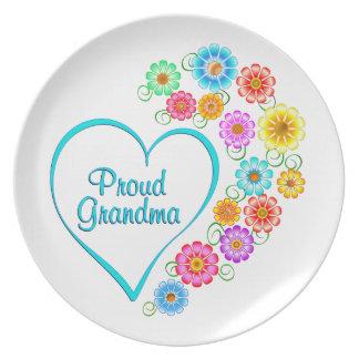 Proud Grandma Heart Plate