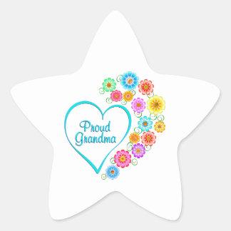 Proud Grandma Heart Star Sticker