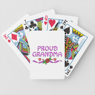 Proud Grandma Hearts Bicycle Playing Cards