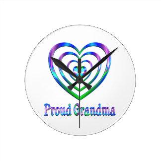 Proud Grandma Hearts Wallclock