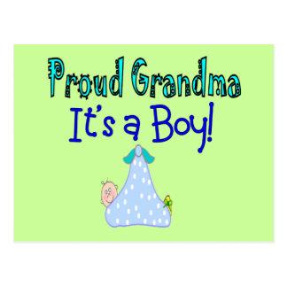 "Proud Grandma, ""It's a Boy!"" Gifts Postcard"
