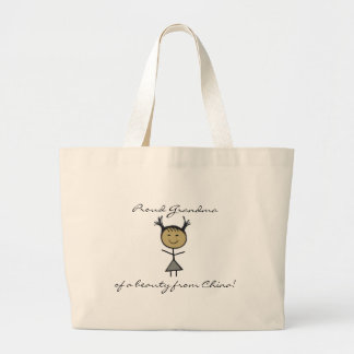 Proud Grandma of a beauty from Ch... Large Tote Bag