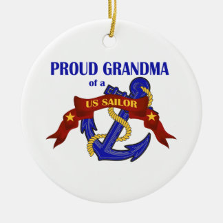 Proud Grandma of a US Sailor Ornament