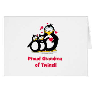 Proud Grandma of Twins Card