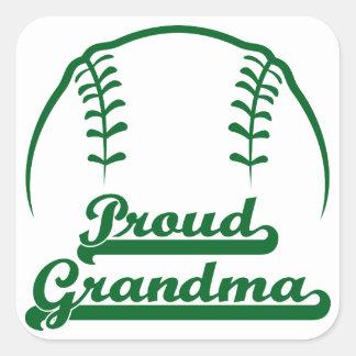 PROUD GRANDMA SQUARE STICKER