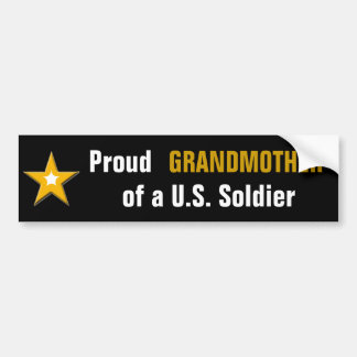 Proud Grandmother of a US Soldier Bumper Sticker