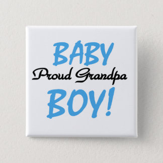 Proud Grandpa Baby Boy Tshirts and Gifts 2 Inch Square Button