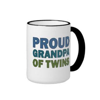 Proud Grandpa of Twins Ringer Coffee Mug