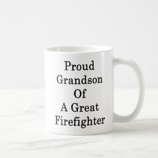 Proud Grandson Of A Great Firefighter Coffee Mug