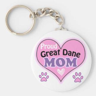 Proud great dane Mom Keychain