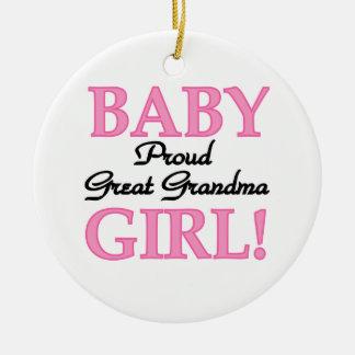 Proud Great Grandma Baby Girl Gifts Ceramic Ornament