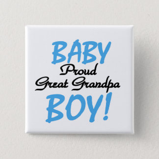 Proud Great Grandpa of Boy Tshirts and Gifts 2 Inch Square Button