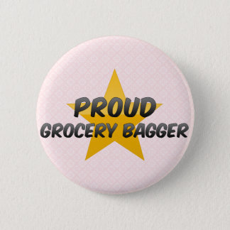 Proud Grocery Bagger 2 Inch Round Button