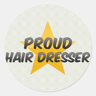 Proud Hair Dresser Classic Round Sticker