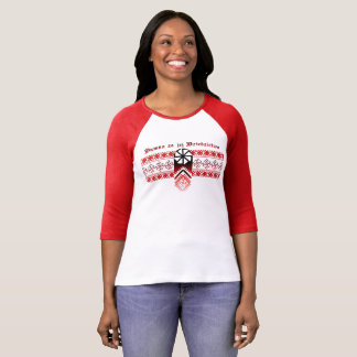 Proud Heritage 3/4 Sleeve Raglan - Polish T-Shirt