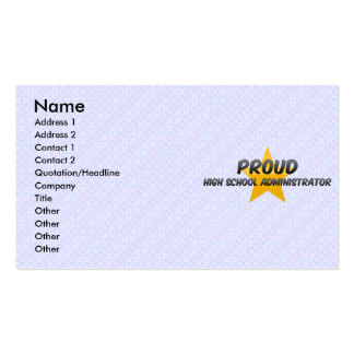 Proud High School Administrator Business Card Templates