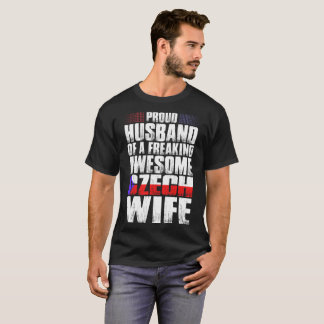 Proud Husband Of Awesome Czech Wife Tshirt
