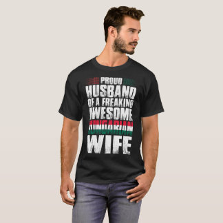 Proud Husband Of Awesome Hungarian Wife Tshirt