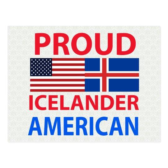 Proud Icelander American Postcard