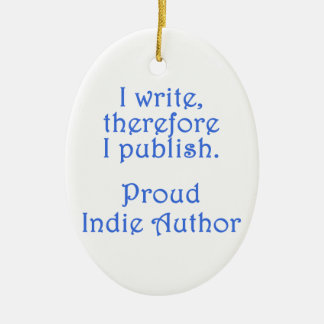 Proud Indie Author Ceramic Ornament
