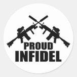 Proud Infidel Classic Round Sticker