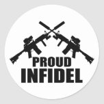 Proud Infidel Round Stickers