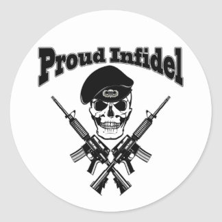 Proud Infidel (Skull) Round Sticker
