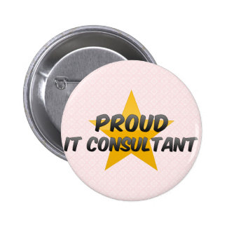 Proud It Consultant Pinback Buttons