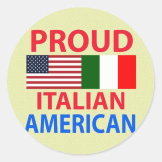 Proud Italian American Classic Round Sticker